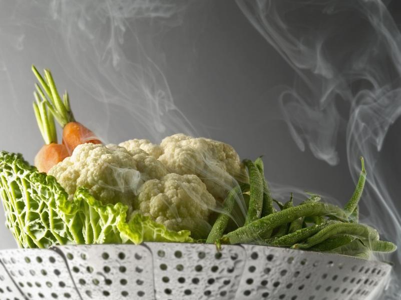 Cuisson de légumes vapeur